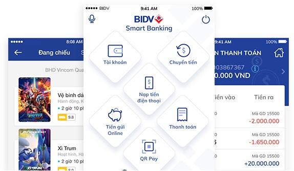 Chuyển khoản BIDV qua điện thoại