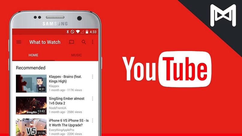 Ứng dụng tube cho nền tảng Android - You Tube