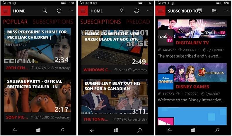 "Ứng dụng xem YouTube ""hoàn hảo"" cho Windows Phone - Perfect Tube"