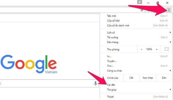 Thiết lập cài đặt in trên máy tính từ Google Chrome