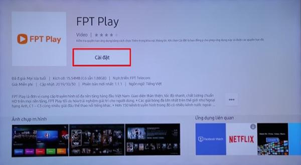 Cách tải ứng dụng trên Smart Tivi Samsung và cài đặt