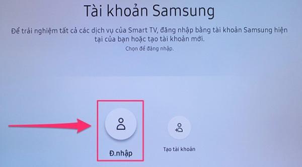 Cách đăng nhập tài khoản Samsung Account