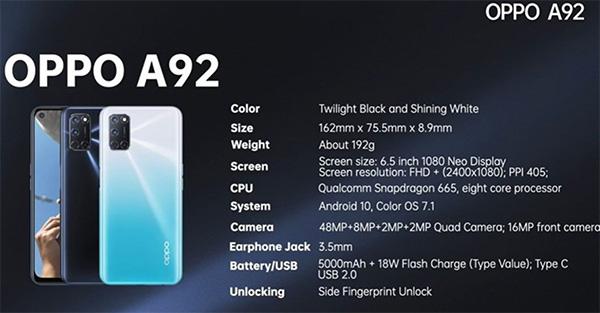 Snapdragon 665 8 nhân đem lại sức mạnh vượt trội cho smartphone này