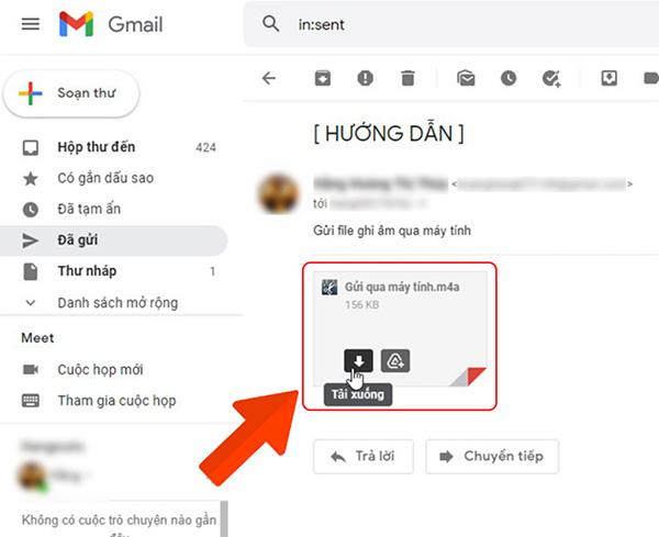 Cách chuyển file ghi âm từ Samsung sang máy tính bằng Gmail (2)