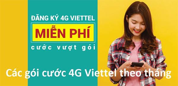 Các gói cước 4G Viettel tháng 50K